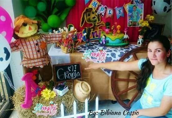 Decoración cumpleaños tipo granja