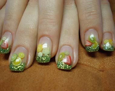 fruit nail for spring and summer