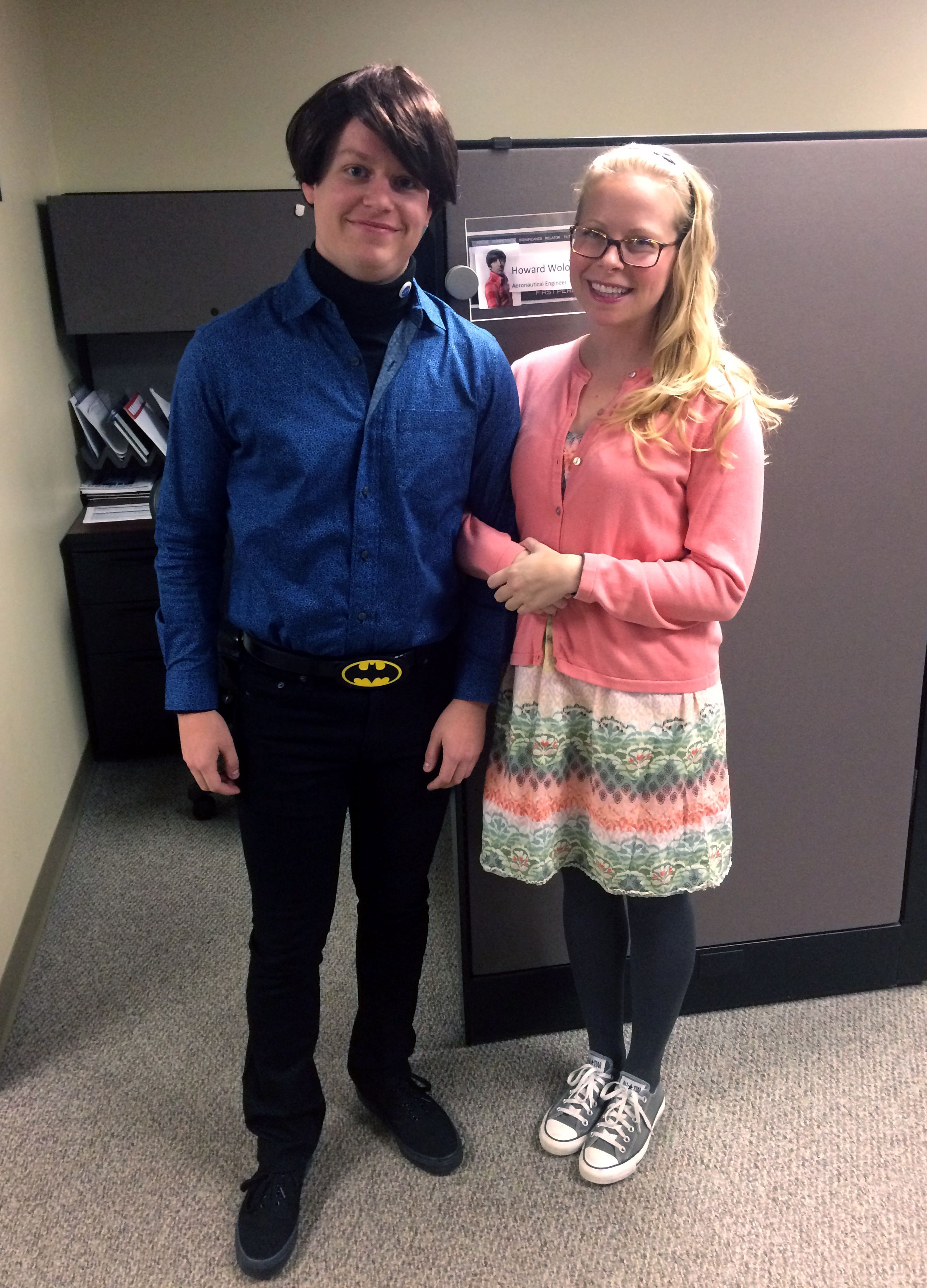 Office halloween costumes - Creative Halloween Costume For The Office Howard And Bernadette From The Big Bang Theory