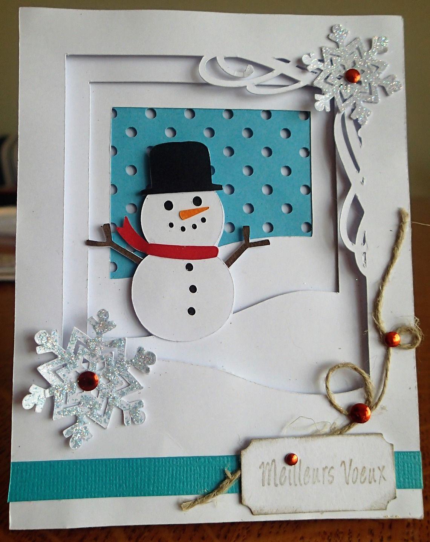 Carte de Voeux en 2D et son bonhomme de neige : Cartes par nini