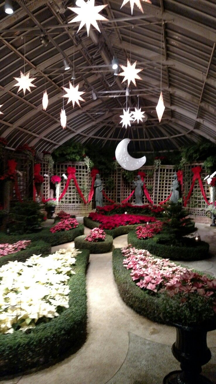 Phipps Conservatory Pittsburgh PA Holiday decor