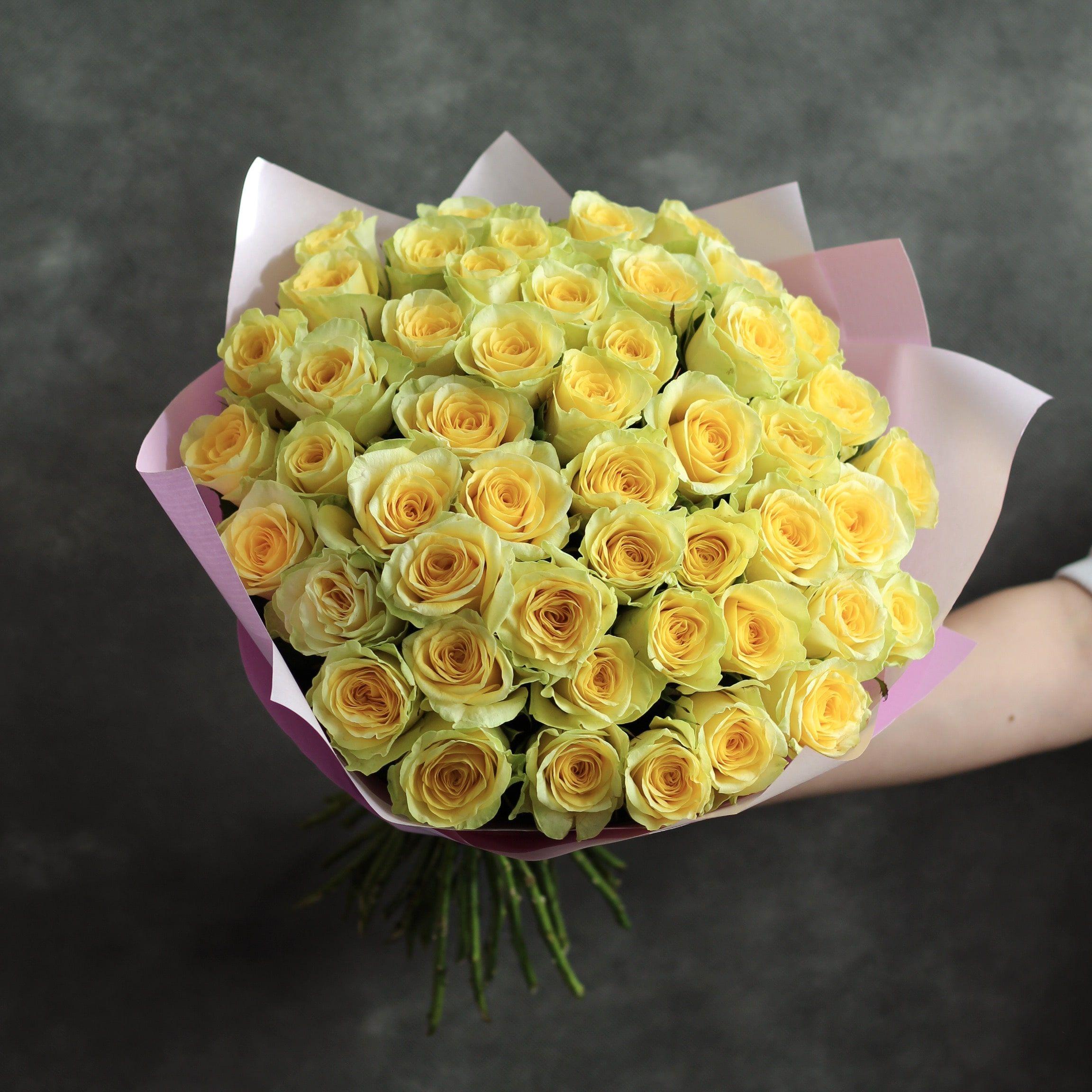 огромный букет желтых роз фото трудом
