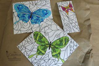 Cindy deRosier: My Creative Life: Faux van het gebrandschilderd glas van een Coloring Book