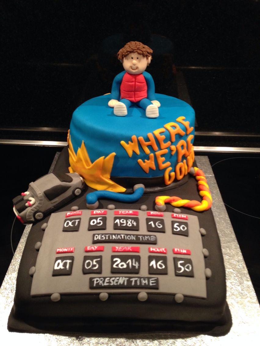 Cake Back To The Future Cake Birthday Cake Bakehouse