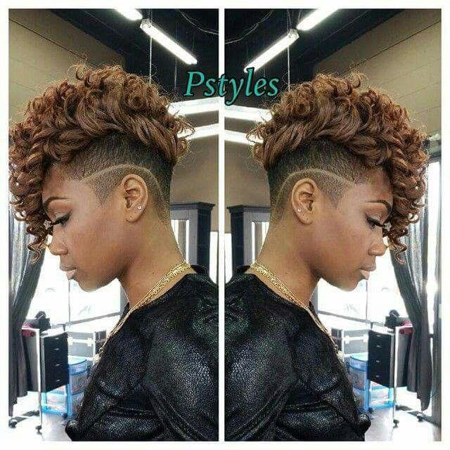 Stylish Sassy And Urban Mohawk Short Curly Weave Hairstyles Curly Weave Hairstyles Hair Styles