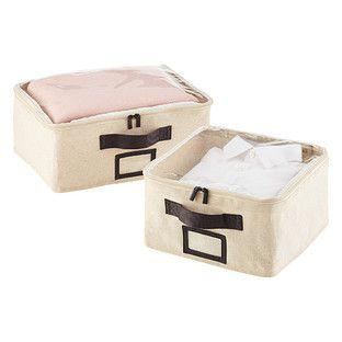 Cotton Soft Linen Storage Boxes with Handles  sc 1 st  Pinterest & Cotton Soft Linen Boxes | bedroom | Pinterest | Linens Linen ...