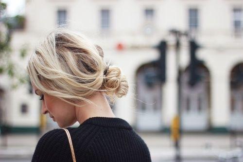 Messy Bun Feines Haar Haarschonheit