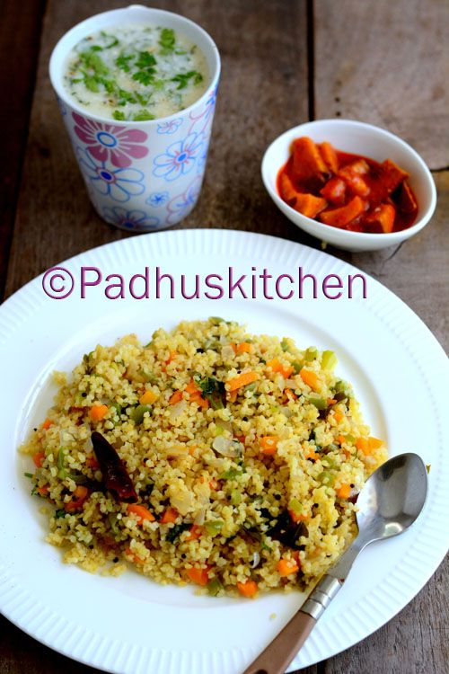 Bulgur Wheat Upma Recipe Breakfast Dinner Pinterest Indian