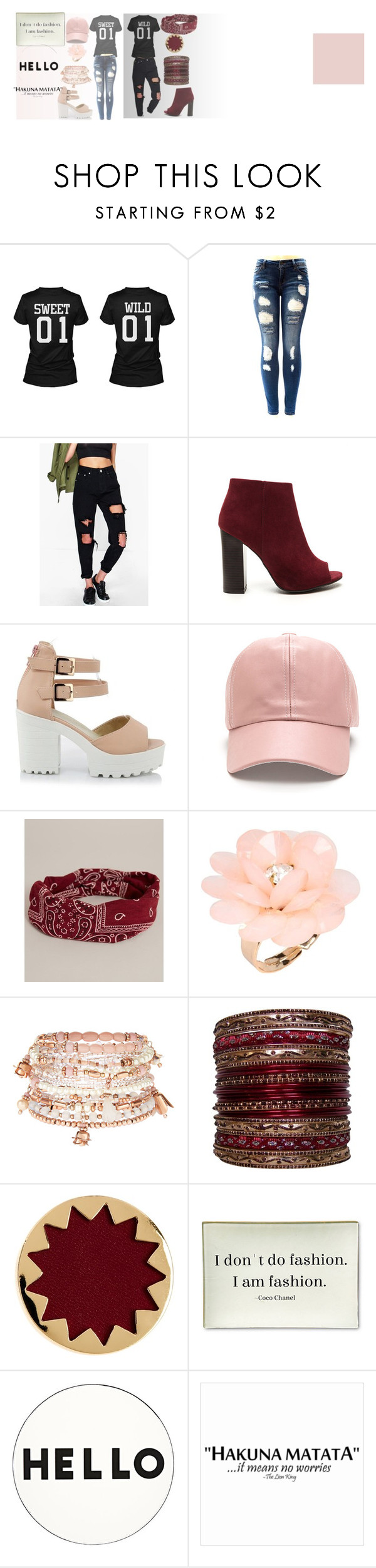 """""""besties"""" by dopeboss on Polyvore featuring Boohoo, BKE, Dettagli, Accessorize, House of Harlow 1960, Twigs and Moss and Lisa Perry"""