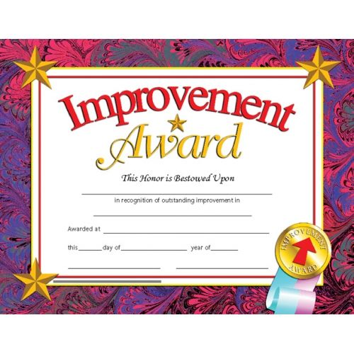 improvement award  reward your students for their special
