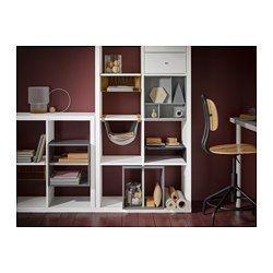 KALLAX Aufbewahrung mit Fächern, dunkelgrau - - - IKEA | living ...