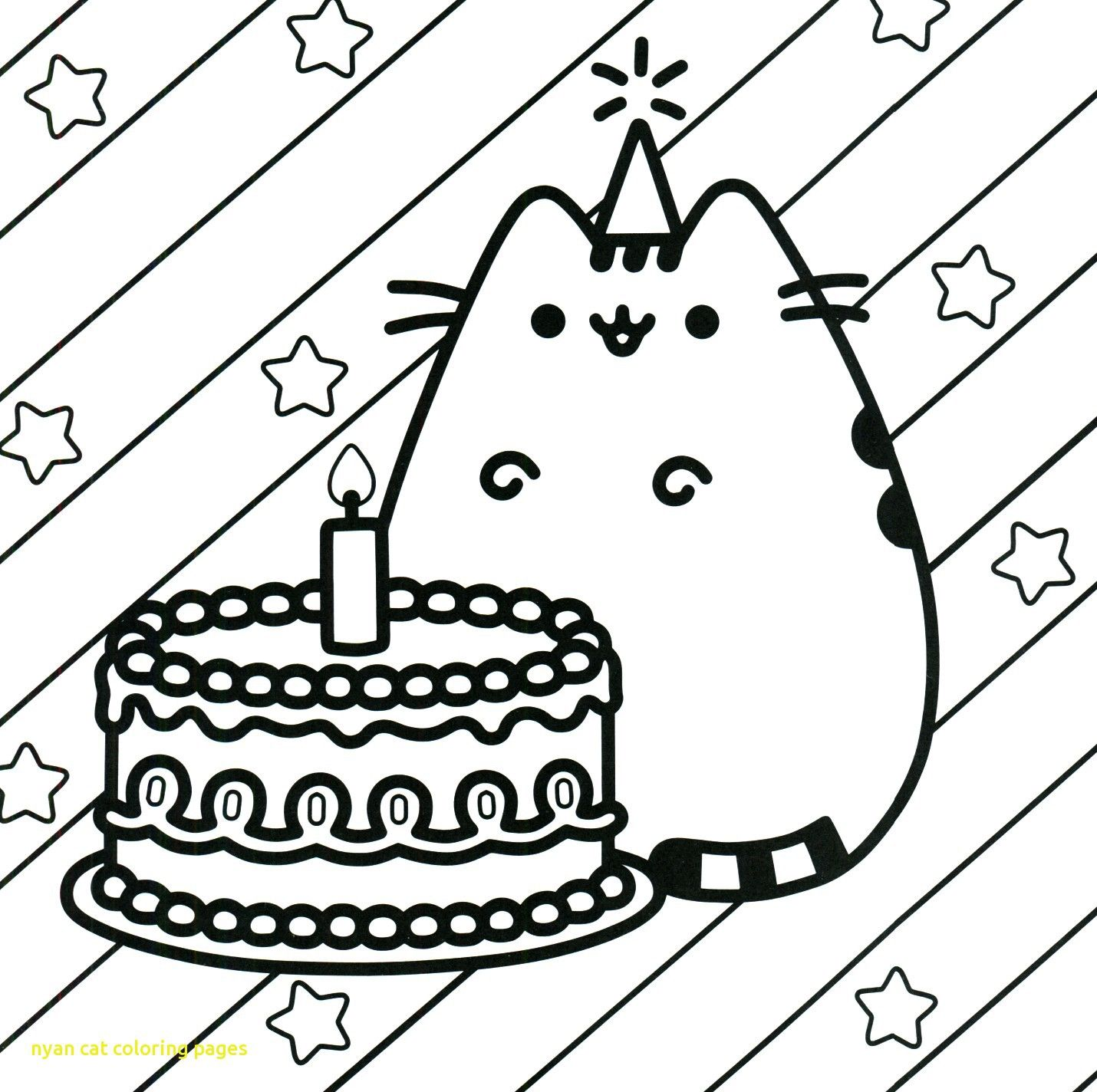 Nyan Cat Coloring Pages Birthday Coloring Pages Happy Birthday