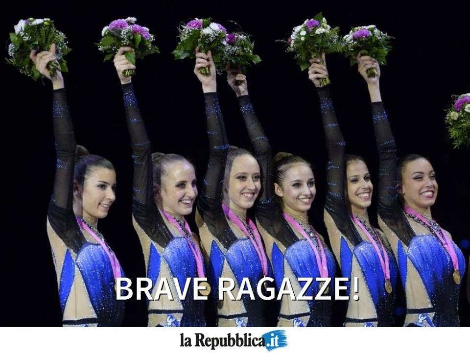 Oro azzurro nei mondiali di ginnastica ritmica di Stoccarda
