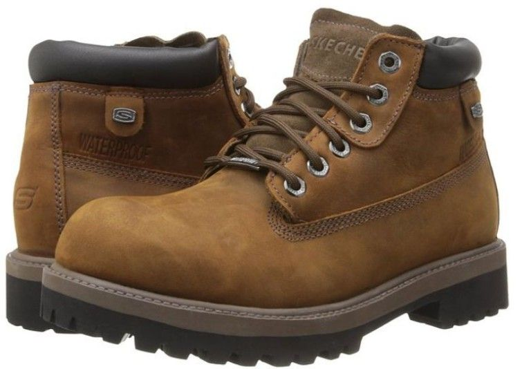 malo académico Escarpado  Skechers Sergeants Verdict Mens Waterproof Boots | Boots, Work boots men,  Mens waterproof boots
