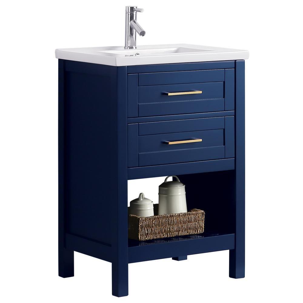 Design Element Spv01 24 Blu Elina 24 Inch Single Sink Vanity In