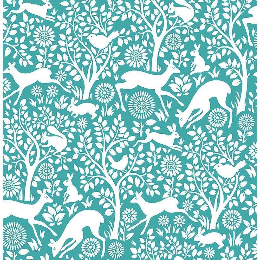 A Street Meadow Teal Animals Wallpaper Sample 2702 22731sam The Home Depot In 2021 Animal Wallpaper A Street Prints Wallpaper Warehouse