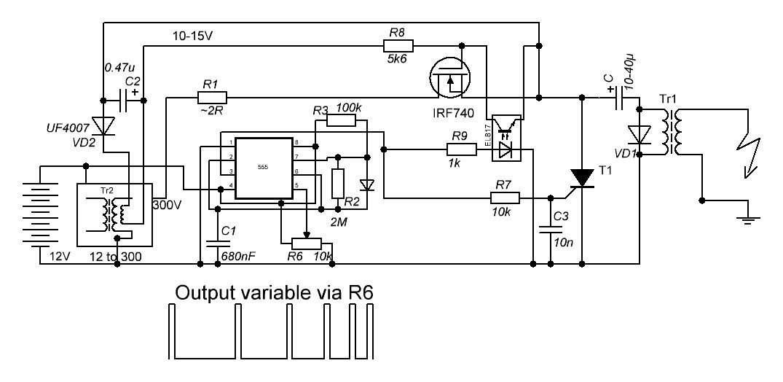 Electric Fence Energizer Circuit Diagram 12v