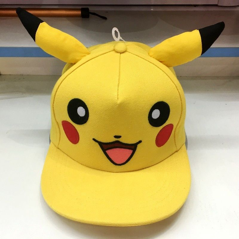 aac7573383c Baseball cap Pokemon go Pikachu skateboard anime cartoon snapback diy hats  cosplay sport caps hip hop casquette de marque gorras