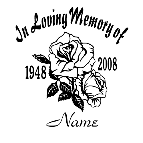 In Loving Memory Laptop Car Truck Vinyl Decal Window Sticker PV - Window decals in memory of