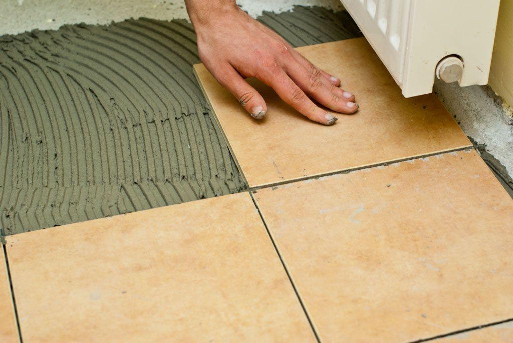 How To Tile A Concrete Floor Miscellaneous Pinterest Concrete