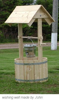 Wooden Wishing Well Made By John Do It Yourself
