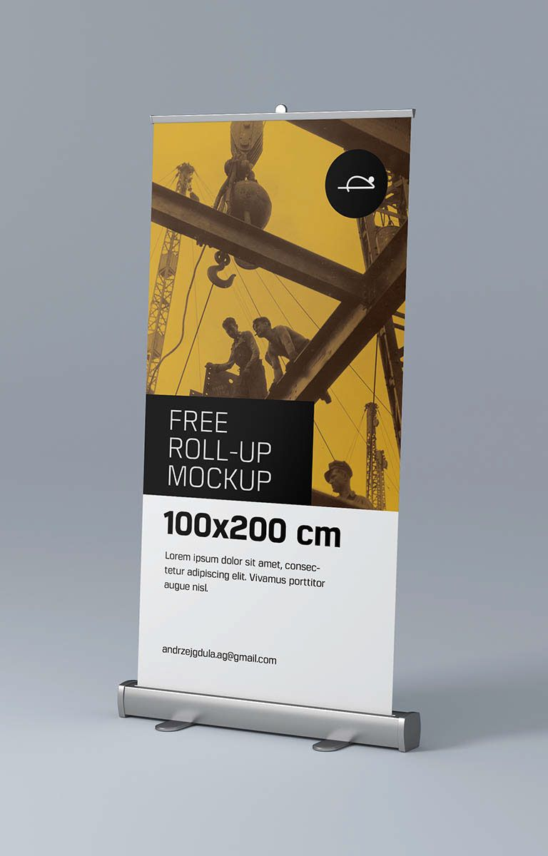 Roll Up Mockups Are In High Demand By Any Graphic Designers That Is Why We Decided To Create It In Three Mos Mockup Free Psd Free Mockup Graphic Design Mockup