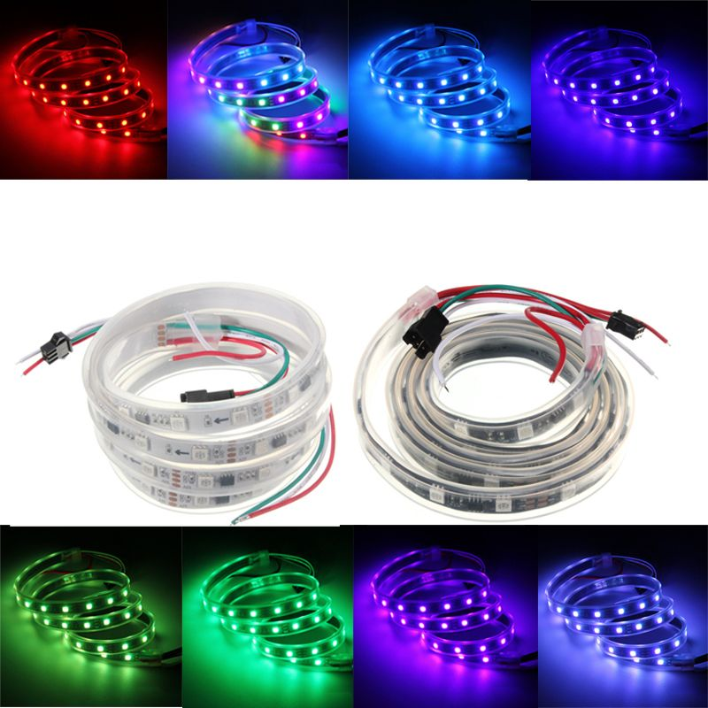 Ws2811 1m Led Strip 48 Smd 5050 Rgb Dream Color Waterproof Ip65 Dc 12v Led Strip Led Led Strip Lighting