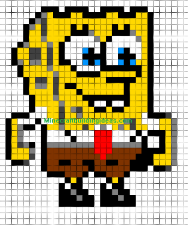 Minecraft Pixel Art Templates Spongebob Square Pants Minecraft Pixel Art Pixel Art Pixel Art Templates
