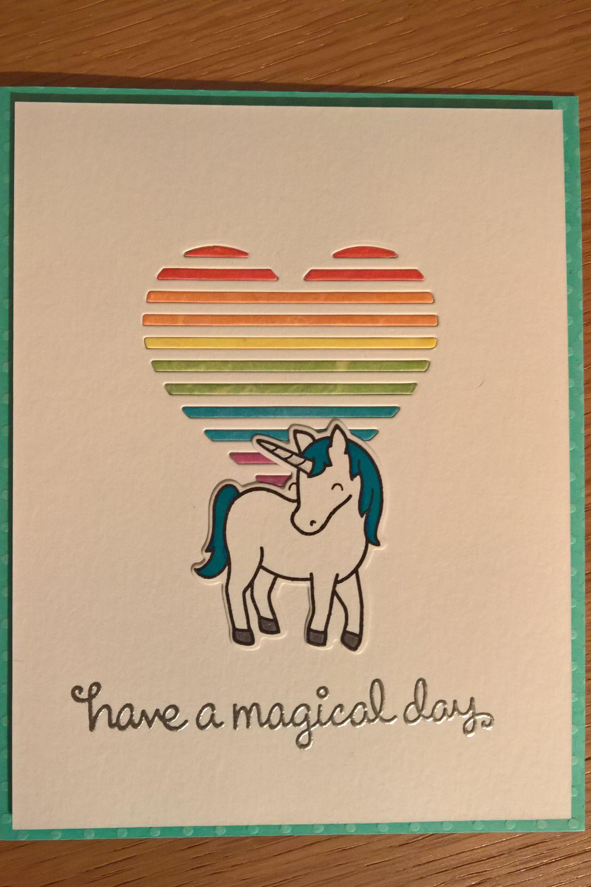 unicorn rainbow heart birthday card april 2016 unicorn