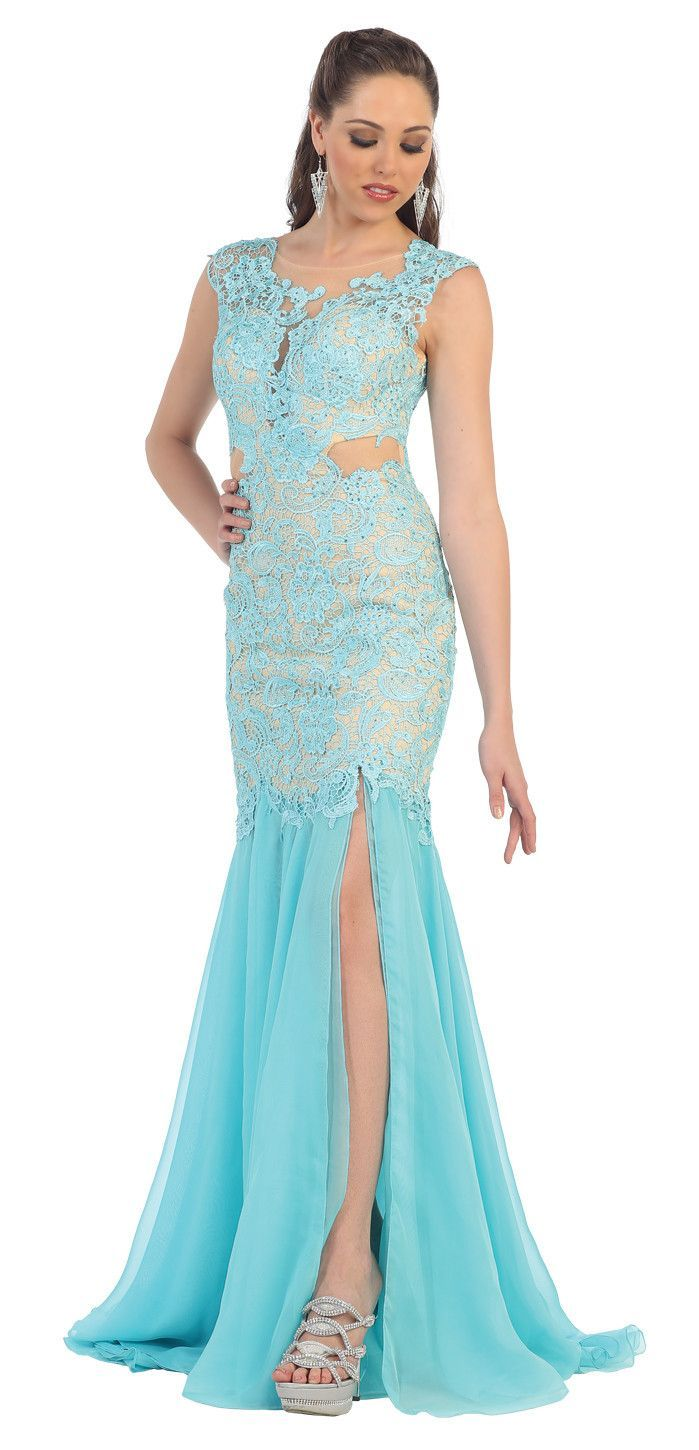 Long Lace Ball Gown Formal Dress Plus Size Prom Gown | R | Pinterest ...