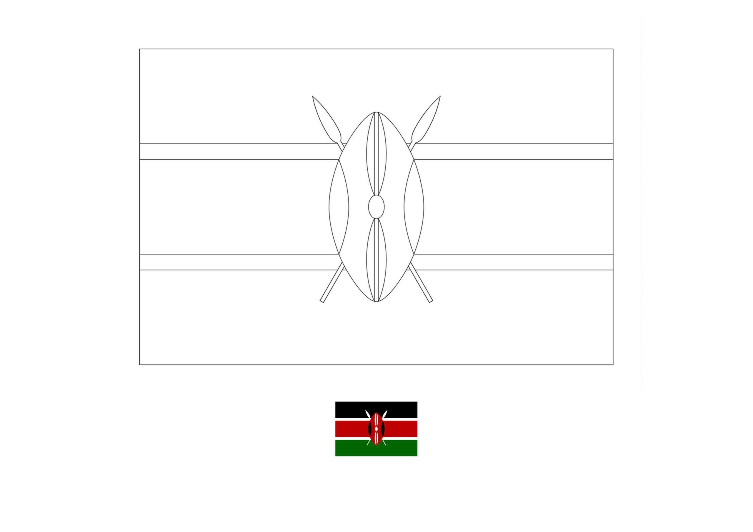 Flag Of Kenya Coloring Page Free Coloring Sheets Coloring1 Com