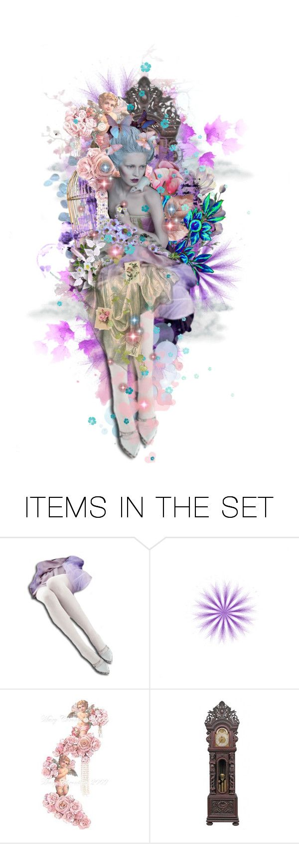 """Baroque In Blues & Mauve"" by girlinthebigbox ❤ liked on Polyvore featuring art, chic, Blue, baroque and mauve"