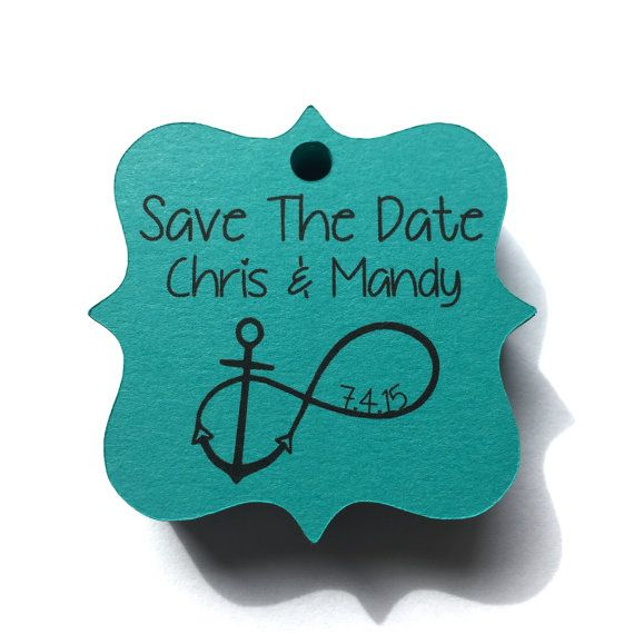 Custom printed Save The Date Gift Tag wedding tag by TheCedarOwl
