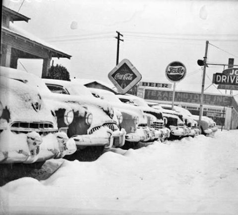 Rare Snowfall In San Antonio Tx In January 1949 Coke