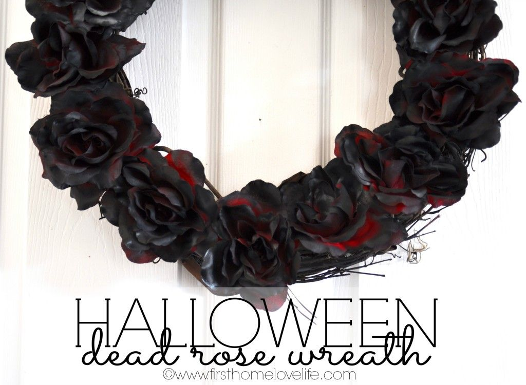 Dark and Spooky Rose Wreath