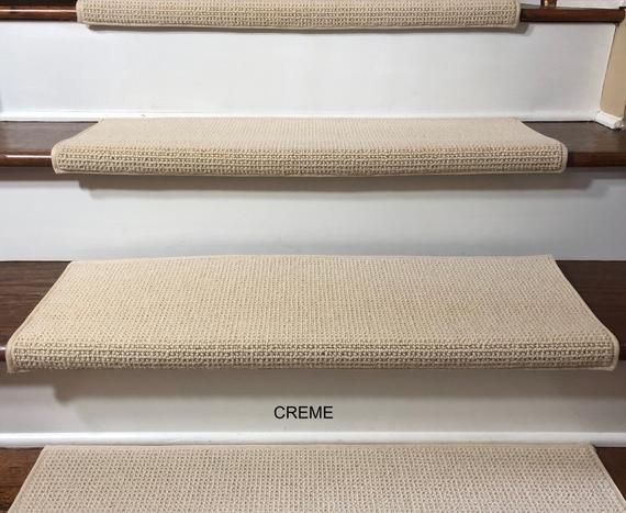 Best Padded Carpet Stair Treads Nantucket Creme In 2019 400 x 300