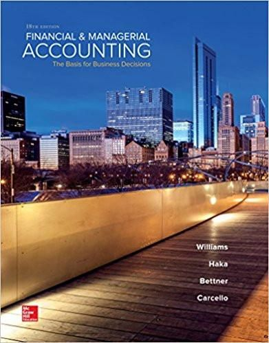 Financial managerial accounting 18th edition by jan williams financial managerial accounting 18th edition by jan williams author susan haka fandeluxe Image collections