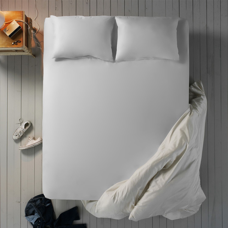 Bamboo Fiber Sheet Set White Sheet Sets Flat Sheets Cotton