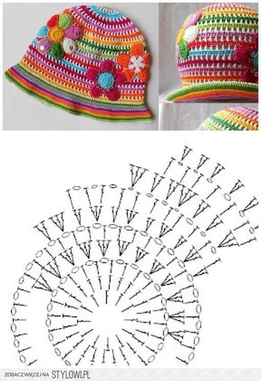 Gorro de niña | Tejidos | Pinterest | Croché, Ganchillo y Gorro tejido