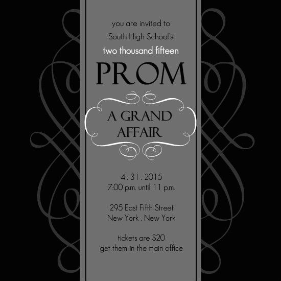 Black and white formal square prom invite by purpletrail sr black and white formal square prom invite by purpletrail stopboris Image collections