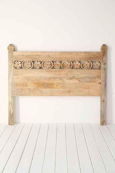Bohemian Platform Bed Carved Headboard Headboards For Beds