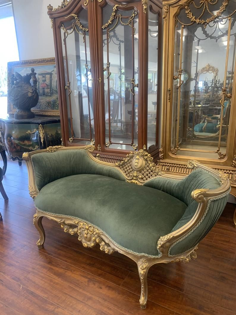 Louis Xv French Style Loveseat Etsy In 2020 French Style