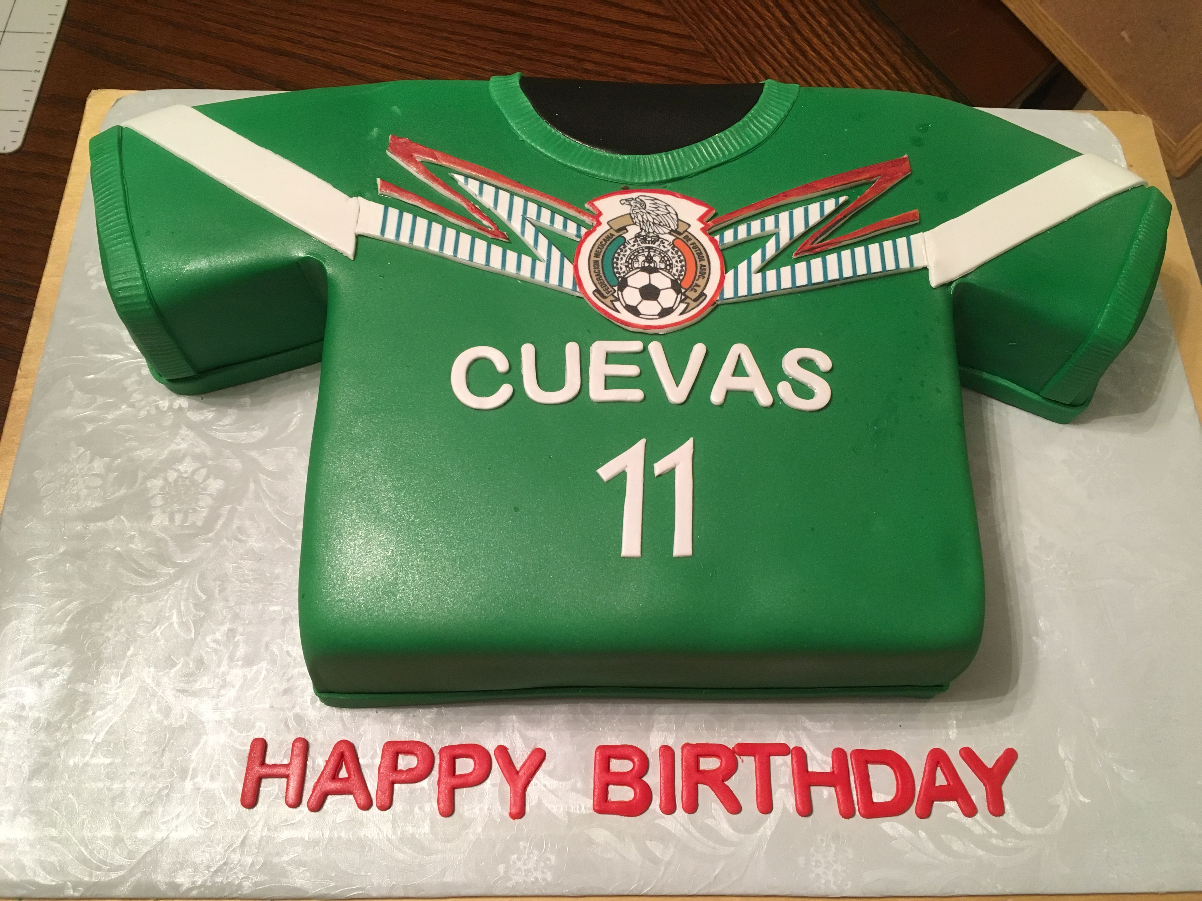 Mexico Soccer Team T Shirt Cake Soccer Cake Shirt Cake Fathers