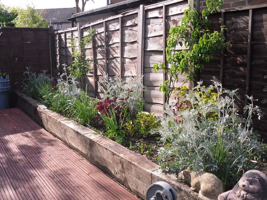 Raised Bed Against Fence Garden Ideas Pinterest