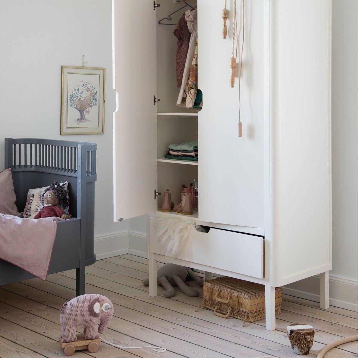 Sebra Kleiderschrank Aus Holz Zweiturig Mit Schublade