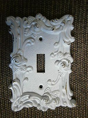 Shabby White Chic Victorian Single Toggle Light Switch