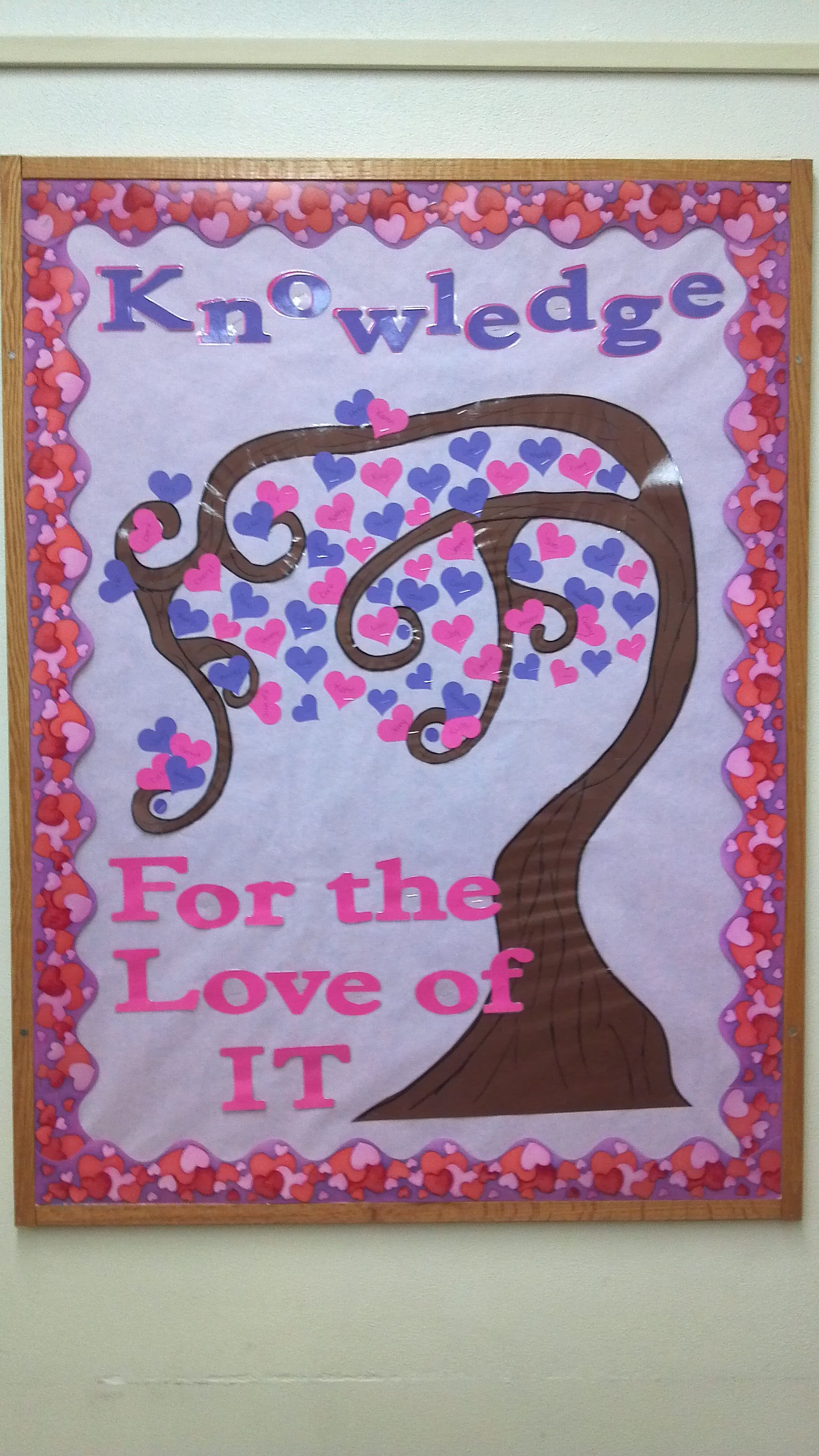 Valentines Bulletin Board Idea Playing Of Tree Of Knowledge I