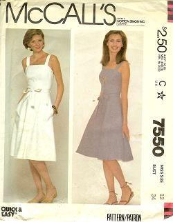 McCalls 7550 Essential Summer Sundress 1981