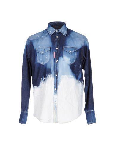 DSQUARED2 Men's Denim shirt Blue 38 suit