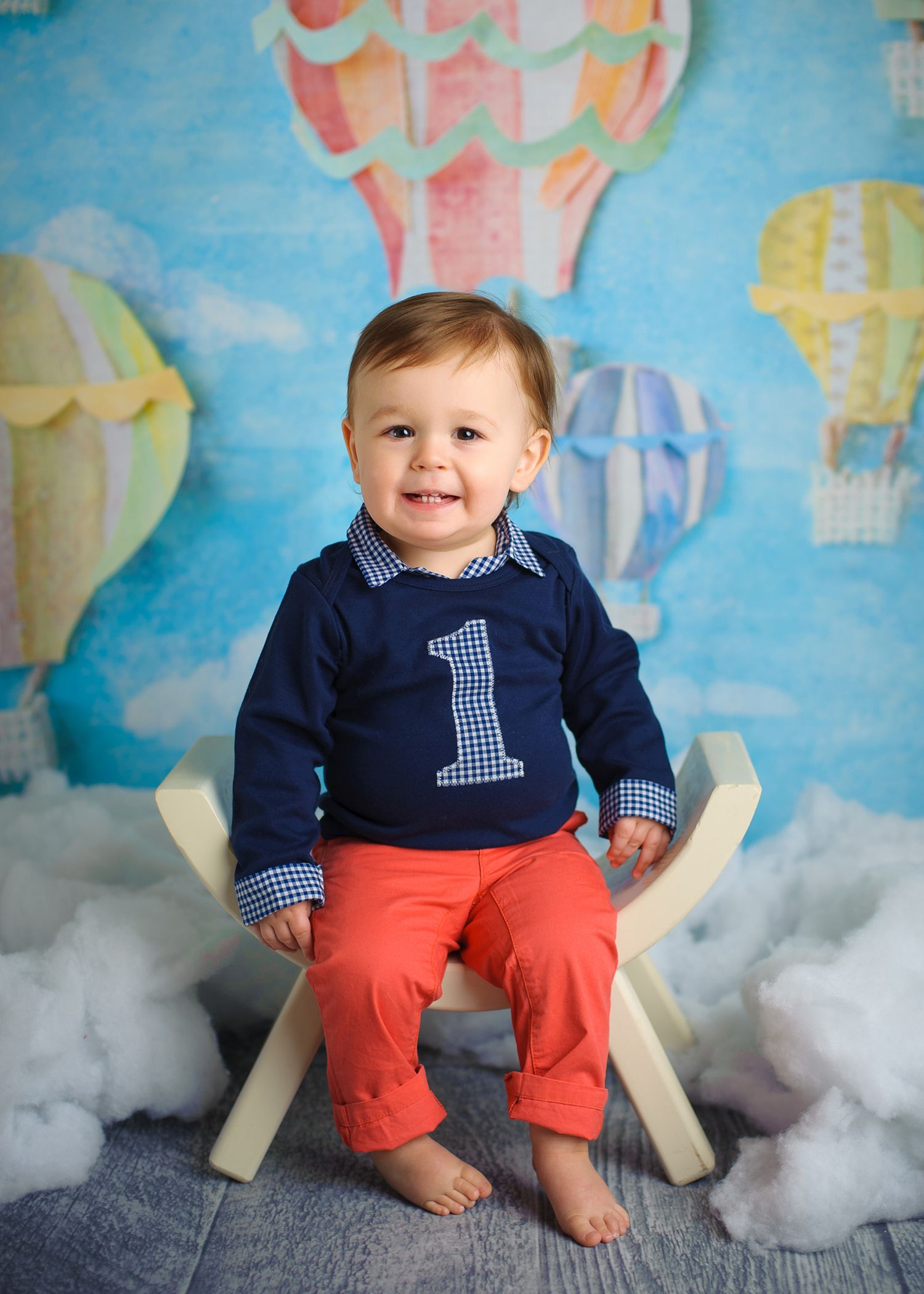 Preppy baby boy first birthday outfit